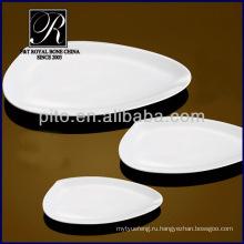 2014 новый продукт отель и ресторан простой белый приятный формы керамические плиты PT1727