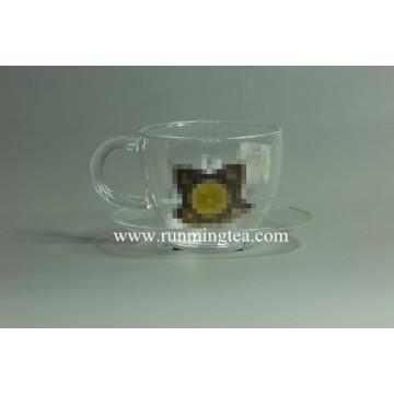 custom private logo on glass teaware