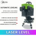 360-градусный 12-линейный трехмерный лазерный измеритель уровня с вращающимся поперечным лучом с зеленым лучом