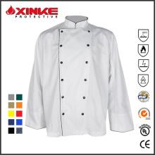 bar e restaurante uniformes de chef de algodão