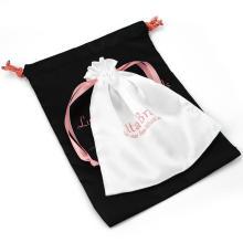 custom Luxury and cheap satin drawstring bag