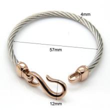 Crochets en acier Bracelet titane bicolore Fashion Bracelets à breloques bijoux infini amour & Bangles