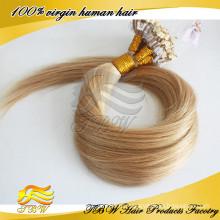 Расширения женщины волосы блондинка микро кольца волос #16 прямо