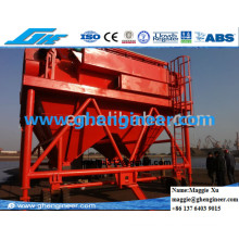 Port Machine Dust Collector Rubber Tires Mobile Hopper