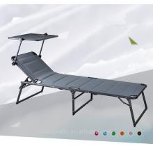 Niceway muebles ajustables al aire libre hermoso color multifuncional silla de playa con toldo