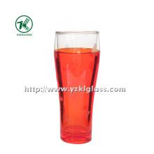 Красная двухслойная стеклянная бутылка (6.5 * 5 * 18 280 мл)