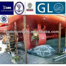 Certificado internacional flotante airbag de mar de caucho marino