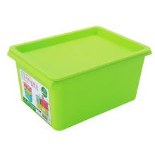 Rectangle Boîte de rangement en plastique coloré avec dessus (SLSN002)