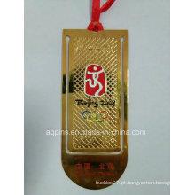 Profissional Fabricante Cloisonne Bookmark em Ouro Chapeamento (bookmark-010)