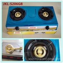 cuisinière à gaz en acier inoxydable à 2 brûleurs, cuisinière à gaz