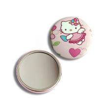 Miroir de poche rond cosmétique imprimé personnalisé CMJN