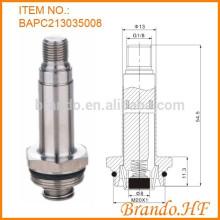 Ensamblaje de la armadura de la válvula solenoide, incluido el tubo guía y el émbolo en el sistema de tuberías