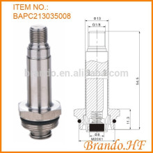 Solenoid Valve Armature Assembly including Guide Tube and Plunger in Piping System