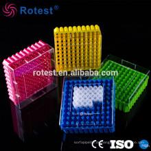 sortierte Farben 100-Well 2ml Kryovial Tube Box
