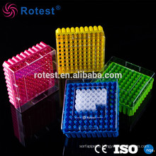assorted colors 100-well 2ml cryovial tube box