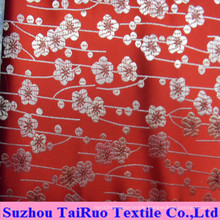 Polyester Silk Satin with Embroidered for Curtain and Bedsheet