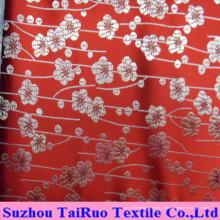 Cetim de seda poliéster com bordado para cortina e lençol