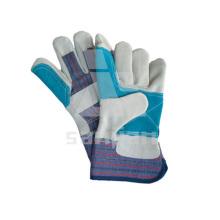 Fabrik Angebot Double Palm Sicherheitshandschuh Leder Grade a / Ab / Bc Handschuh