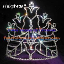 Taza de la estrella de coronas de diamantes de imitación de cristal
