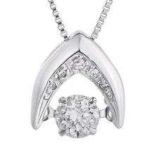 Modeschmucksachen 925 silberne Tanzen-Diamant-Anhänger