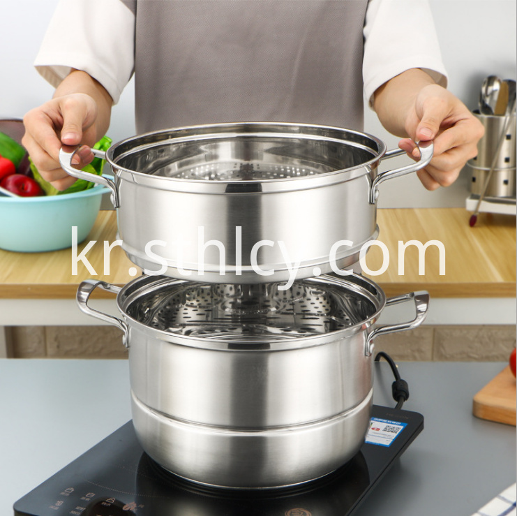Stainless Steel Steamer Pot1