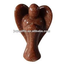 Goldstone Gemstone Anjo Craft Coletar