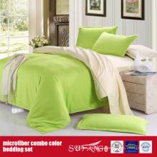 Funda de almohada de microfibra combo cómoda de color sólido 110GSM
