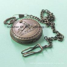 Reloj de bolsillo de cuarzo analógico japonés de movimiento japonés con tren