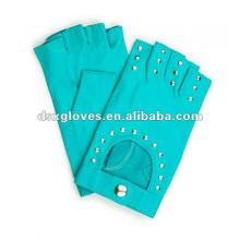 fashion fingerless leather gloves