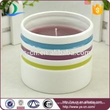 Candelabro redondo de cerámica para regalos