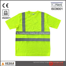 Safety High Visibility En20471 Reflective Tape T-Shirt
