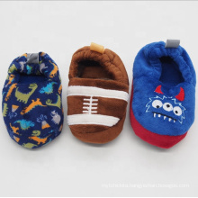 Animal printing or embroidery toddler boys slipper house baby anti slip indoor shoe