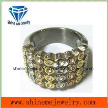 Verlobungs-Finger-Ringe Gold überzogene Kristallhochzeits-Schmucksachen