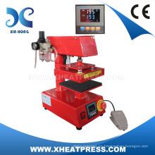 FJXHB1015 mini máquina neumática de la prensa del calor, máquina de impresión de la etiqueta de la ropa, máquina de la impresión de la etiqueta