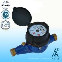 Multi Jet Dry Type IP68 Compteur d'eau en laiton