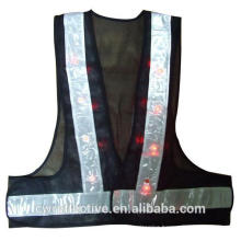 Fashionable cool design lace flashing LED lighted reflective safety vest for lady