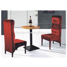 Modern durable round restaurant table and soft restaurant chair set XYN1313