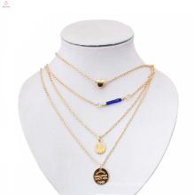Новейшие образцы ювелирных изделий 3 10 12 грамм диска слой золото ожерелье