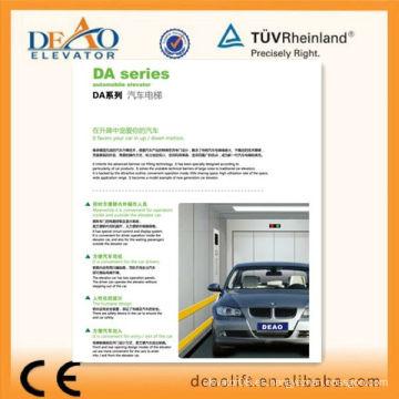 Elevador de coches duradero con dos paneles de operación