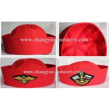Rote Farbe Großhandel Baumwolle Matrose Mütze Hut für unisex
