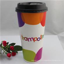 Tasse à café en papier jetable 12oz avec couvercle