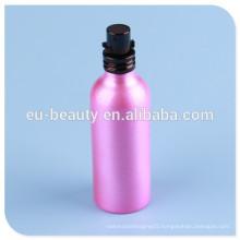 shiny coating aluminum perfume bottle with screw perfume bottle