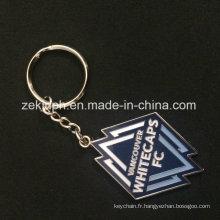 Keychain de souvenir de conception faite sur commande en métal d'émail doux d'alliage de zinc