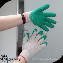 SRSAFETY гладкая латексная ладонь дешевая рабочая перчатка