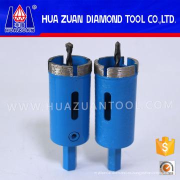 Sierras de corona de diamante con broca piloto de extracción