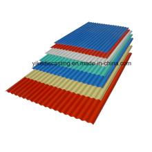 Precios baratos hojas de techo de plástico corrugado de PVC