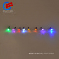 hot sale metal alloy diamante crystal LED lighting ear stud bar party items colorful shine flashing earing