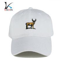 weiße blanke Baseballkappe mit Ihrem eigenen Design-Logo aus Baumwolle mit sportlicher Mütze und Hut