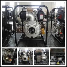 "4 ""bomba de agua diesel negra portable"