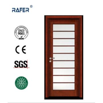 Межкомнатные одностворчатые стеклянные деревянные двери (РА-N048)